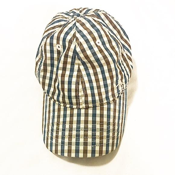 Penguin brand brown and blue plaid cap. M 5a976ab8daa8f689da3de88f 12cf5f01c7d9